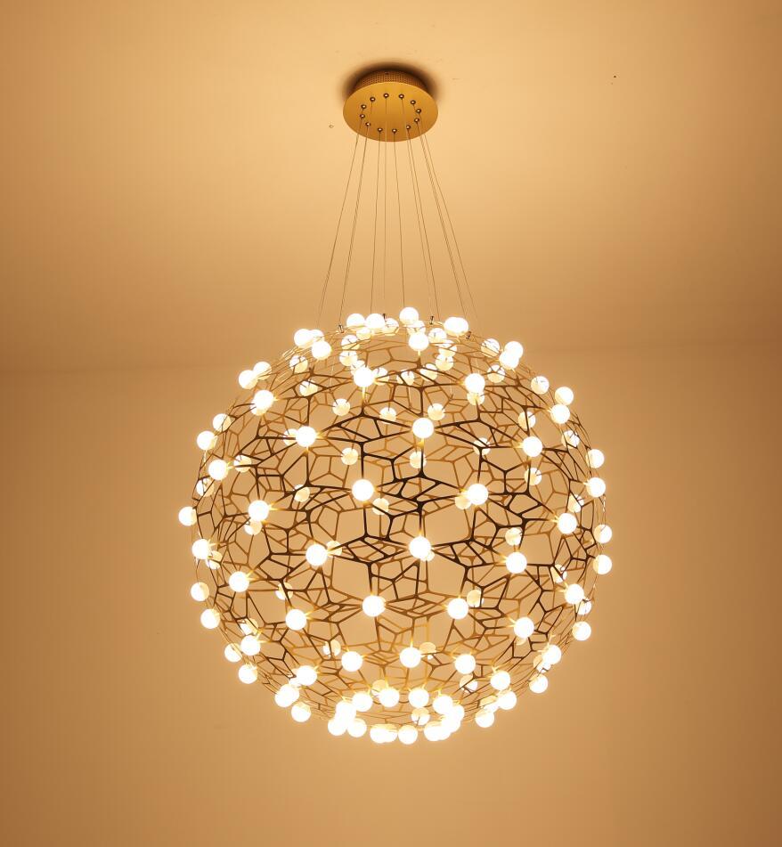 Đèn led thả hình quả cầu hiện đại