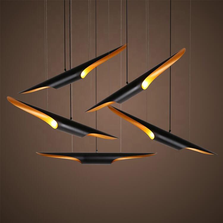 Đèn ống thả hiện đại